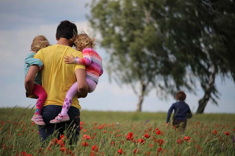 Father with kids individual life insurance