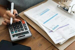 Employee calculating bills insurance Employment Practices Liability