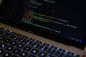 Macbook laptop with code